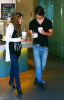 Miley Cyrus and Justin Gaston together at an icecream shop on January 28th, 2009