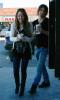 Miley Cyrus and Justin Gaston buying frozen yogurt on Jan 28th, 2009