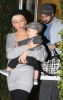 Christina Aguilera with Jordan Bratman and their son Max Liron