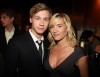 David Kross with actress Kate Winslet at the reception for the premiere of The Reader at the Ziegfeld Theater on December 3  2008 in New York City