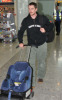 Christian Bale at Londons Heathrow International Airport