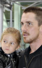 Christian Bale with his daughter Emmeline at Londons Heathrow International Airport