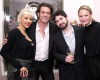Christina Aguilera together with her husband Jordan Bratman  Stephen Webster  and Carrie Niese at a jewelery cocktail party for Garrard brand in Beverly Hills on February 5th 2009