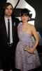 Zooey Deschanel arrives at the 2009 grammy awards