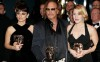 Kate Winslet with Penelope Cruz and Mickey Rourke at the BAFTA awards
