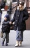 Sarah Jessica Parker taking her son James Wilkie Broderick to school in New York on the morning of February 10th 2009 2