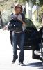 Lindsay Lohan spotted out of her new Mercedes SLK in Los Angeles on February 12th 2009 2