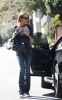 Lindsay Lohan spotted out of her new Mercedes SLK in Los Angeles on February 12th 2009 3