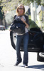 Lindsay Lohan spotted out of her new Mercedes SLK in Los Angeles on February 12th 2009 1