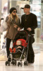 Nicole Richie and Benji Madden shopping at the Beverly Center with their daughter Harlow Winter on February 12th 2009 2