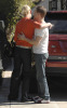 actress Katherine Heigl and actor T.R. Knight friendly hugging 2