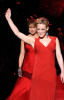 Katie Couric and Hilary Duff participate at the Heart Truth Red Dress Show