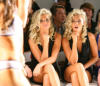 Karissa and Kristina Shannon at Beach Bunny Swimwear Spring 2009 Collection during Mercedes Benz Fashion Week at Smashbox Studios on October 13th 2008 in Los Angeles