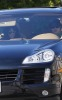 Vanessa Hudgens and Zac Efron riding in his Porsche Cayenne on Valentine's Day in Burbank