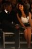 Kim Kardashian and Reggie Bush at the Tracy Reese fashion show