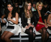 Kim Kardashian with Nicky Hilton and Paris Hilton at the Tracy Reese fashion show