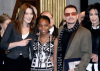 Singer Bono and Carla Bruni Sarkozy at the 9th Nobel Peace Prize Summit on December 12th 2008