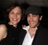Jake Gyllenhaal and Maggie Gyllenhaal at the after party for the Off Broadway play Uncle Vanya at Pangea restaurant in New York City on February 12th 2009 2