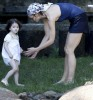 suri Cruise with her mom katie holmes at a tropical private island in Angra Dos Reis on the 1st of February 2009 2