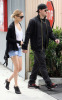 Nicole Richie with Joel Madden walking together after eating breakfast in Los Angeles earlier today on February 21st 2009 3