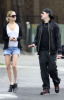 Nicole Richie with Joel Madden walking together after eating breakfast in Los Angeles earlier today on February 21st 2009 2
