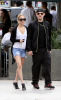 Nicole Richie with Joel Madden walking together after eating breakfast in Los Angeles earlier today on February 21st 2009 5