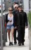 Nicole Richie with Joel Madden walking together after eating breakfast in Los Angeles earlier today on February 21st 2009 6