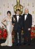 Tina Fey with Dustin Lance Black and Steve Martin at 81st Annual Academy Awards on February 22nd 2009