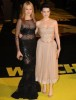 Malin Akerman and Carla Gugino arrive at the UK premiere of  Watchmen