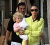 Katie Price aka Jordan with husband Peter Andre and baby Princess Tiaamii after having lunch at Tra di Noi in Los Angeles California on February 23rd 2009