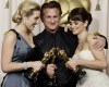 The three 2009 oscar winners actor sean penn with actresses Penelope Cruz and Kate Winslet pose together at the the 81st Annual Academy Awards
