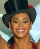 Beyonce Knowels theatrical makeup face closeup picture of the performance on stage at the 81st Academy Awards