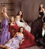 Eva Longoria and Carrie Underwood with Brooke Shields and Lauren Hutton and Anjelica Huston
