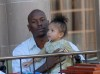 singer Tyrese and his daughter Shayla Somer Gibson in West Hollywood California 1