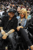 Christina Milian and the dream at the Atlanta Hawks vs Clevelend Cavilers basketball game on Sunday night