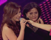 Tania and her Mother Madam Nemer on fifth prime of star academy season6 on March 20th 2009