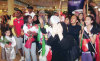 Noura Ameiry arrives at the kuwaiti airport t