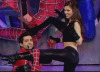 on star academy season6 sixth prime Lara and Bash in a spiderman tableau with a song for Madonna