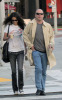 Emma Heming with Bruce Willis pick up coffee at Starbucks at Robertson Boulevard in Los Angeles California on March 21st 2008
