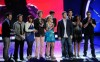 Top 10 contestants of American Idol on stage