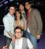 Paula Abdul with Adam Lambert, Daniel Gokey, Kris Allen, and Anoop Desai