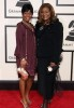 Ann Nesby with Paris Bennett arrive at the 50th annual Grammy awards held at the Staples Center on February 10th 2008 in Los Angeles California