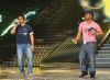 pictures of Michel Rmeih and Nasser singing on stage at the Sixth Prime of LBC Star Academy season six on March 27th 2009