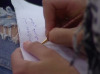 Basma writes down her excuse of not expressing her love to Yahia