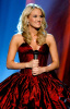 Carrie Underwood on stage at the 44th annual country music awards on April 5th 2009