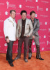 Gary LeVox, Jay DeMarcus, and Joe Don Rooney of Rascal Flatts arrive at the 44th annual Academy Of Country Music Awards