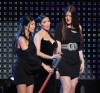 Kim Kardashian with Kourtney Kardashian and Khloe Kardashian on stage at the Bravos 2nd Annual A List Awards on April 5th 2009 4