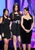 Kim Kardashian with Kourtney Kardashian and Khloe Kardashian on stage at the Bravos 2nd Annual A List Awards on April 5th 2009 1