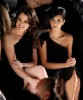 Kim Kardashian and Khloe Kardashian attend the Badgley Mischka Fall 2009 Fashion Show on the 17th of February 2009 2