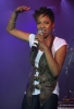 MC Lyte on stage singing at at Queen Latifah birthday party